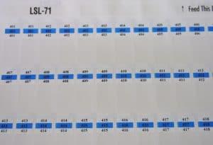 LSL-71 Cable Labels